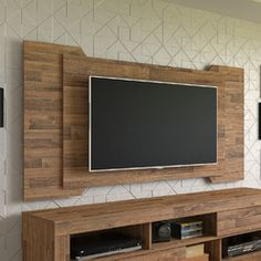 produto Tv Panel, Tv Wall Mounts, Paneling, House, Interior Design, Tv Cabinets, Tv Wall, Apartment Decor, Deco
