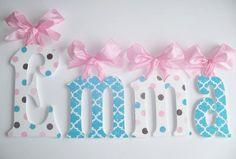 Wood Wall Letters  Kids Nursery Decor  GLITTER by acharmedlifeinc