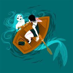 Feb 2020 - Mermaids I made for mermay part 2 - Yoshi Yoshitani Siren Mermaid, Mermaid Art, Mermaid Paintings, Tattoo Mermaid, Vintage Mermaid, Mermaid Tails, Mermaid Illustration, Illustration Art, Character Inspiration
