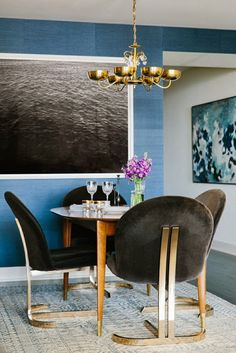 chairs- brass + velvet