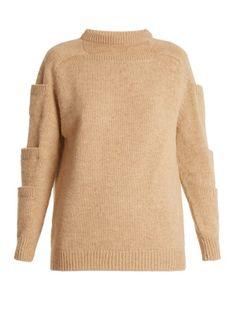Crew-neck pocket-detail wool sweater | Christopher Kane | MATCHESFASHION.COM AU