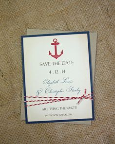 Nautical Save the Date Cards, Save the Date, Wedding Announcements - set of 100 on Etsy, $250.00