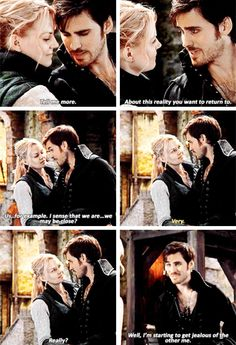 Killian always getting jealous of himself. And that's something that would only make sense in OUAT!