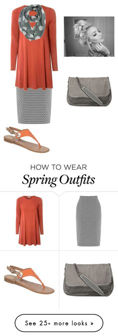 """spring outfit"" by apostolic-country-girl-98 on Polyvore featuring Warehouse, Glamorous, Franco Sarto and STELLA McCARTNEY"