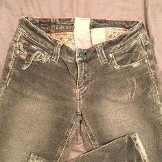 Marla Corduroy Jeans Very fun, distressed boho cords. Great condition. I think they look really neat and would be very warm. A little stretchy. Marla Jeans Flare & Wide Leg
