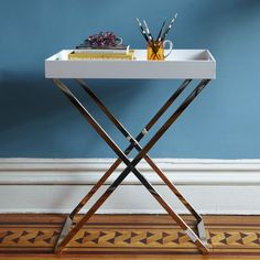 """$149 Overall product dimensions: 28""""w x 18""""d x 31.5""""h. Not sure if you need any tabletop space, but these are easily moveable tables/trays and come in various colors"""