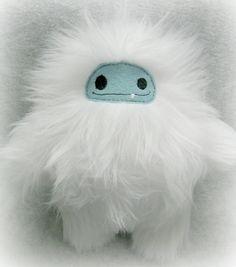 Yetti Furry Stuffed Plush Toy by lilliannamarie on Etsy, $15.00