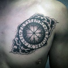 Discover Icelandic ink inspiration with the top 71 best Viking compass tattoo designs. Explore cool Norse mythology and killer Vegvísir ideas. Viking Compass Tattoo, Compass Tattoo Design, Norse Tattoo, Viking Tattoos, All Black Tattoos, Trendy Tattoos, Cool Tattoos, Small Tattoos With Meaning, Small Tattoos For Guys