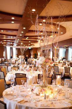 Pretty wedding reception location. Photo by Angeli. #windowsonmminnesota #minneapolishilton #MinnesotaWeddingPlanners