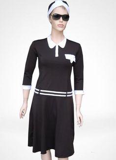 Polo brown modest swimwear by Sea Secret @$89 - looks like a 50's sports dress