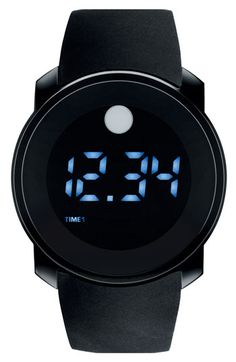 Movado Digital Rubber Strap Watch available at #Nordstrom - obsessed with this watch!