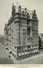 The original Waldorf Hotel soon after opening in 1893
