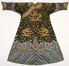 The Metropolitan Museum of Art - Peacocks and Dragons, court robe 1600's, woven with peacock feathers and silk