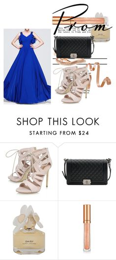 """""""Royal Blue A Line Princess V Neck Floor Length Chiffon Evening Dress Ruffle Beading Sequins Cascading Ruffles Harry Dress HD71538"""" by harrydress ❤ liked on Polyvore featuring Carvela, Chanel, Marc by Marc Jacobs, Elizabeth Arden and Shaun Leane"""