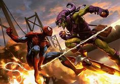 QOTD: Did you guys like Rogue One or Ep. 7 better? Art by Wonchun Choi  #SpiderMan #GreenGoblin #Marvel #MarvelComics #Comics #ConceptArt #Art #Artist #Superhero
