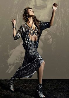 Boho Rocker Fashion - Elisa Sednaoui for D la Repubblica