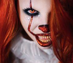 IT Halloween clown makeup