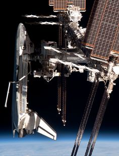 Precision parking of a space shuttle is a prerequisite of pilot training  that facilitates docking this precise in zero G at the International Space Station in geo orbit around the wee blue marble we call Earth ( aka home )
