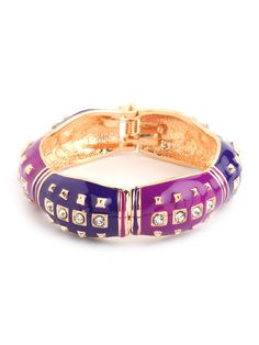 Pink Stud Cuff. Pair it with a two-tone pullover and jeans for a striking day look.