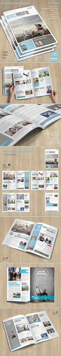 #Business #Newsletter - #Newsletters Print Templates Download here: https://graphicriver.net/item/business-newsletter/19762248?ref=alena994