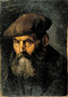 Man in a Beret, 1895 - Picasso (Spanish,1881-1973) Realism
