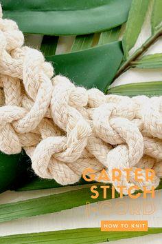 How to knit Garter Stitch i-Cord