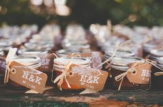 homemade goodies for guests to take home   hand stamped tags   perfectly thoughtful favors for wedding guests