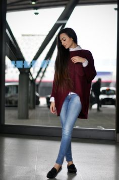 streetstyled:        Inga from intriguemenow wears: Jumper and shoes- gifted ROMWE : jeans- ZARA