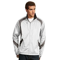 Men's Antigua Tempest Water-Resistant Golf Jacket, Size: XL, White