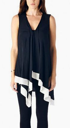 black and white ruffled top/outfit