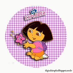"Anniversary Kit to customize theme ""Dora, adventurous"" - Digital Invitations Simple"