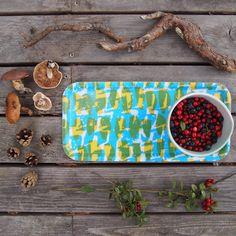 The new yellow & Blue 'Choppy' cocktail tray by Jonna Saarinen for Autumn/Winter 2015 makes a great gift, perfect for serving drinks and for storing condiments. Hidden Art, Crafty Fox, Overseas Travel, Good Customer Service, Fall Winter, Autumn, Yellow, Blue, Scandinavian