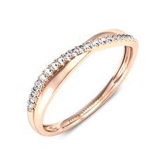 Alliance diamant or rose  Callia