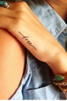 41. Free - 47 #Inspiring Quote #Tattoos That Will Make You Want to Get Inked ... → #Inspiration #Tattoo