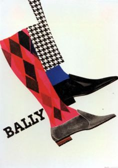 """PG066 """"Bally"""" poster by Donald Brun (1965)"""