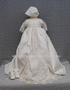 4253: Girls' Silk Christening Gown