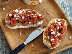 Recepty Archivy - Strana 2 z 36 - Zahrádkářův rok Bruschetta, Eggplant, Baked Potato, Good Food, Potatoes, Meat, Baking, Ethnic Recipes, Tomatoes