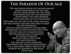 The paradoxes of our time by Dalai Lama