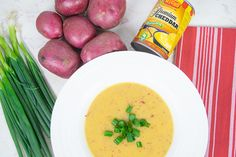 Warm up with a big batch of this creamy cheesy potato soup. It's packed full of hearty red potatoes and creamy cheddar cheese sauce! Creamy Cheesy Potatoes, Cheesy Potato Soup, Cheddar Cheese Sauce, Potato Vegetable, Recipe Images, How To Dry Oregano, Recipe Using, Sauce Recipes, Stay Warm