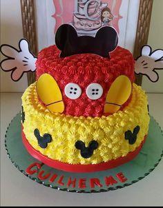 Bolo Mickey Bolo Do Mickey Mouse, Festa Mickey Baby, Theme Mickey, Fiesta Mickey Mouse, Mickey Mouse First Birthday, Mickey Mouse Baby Shower, Mickey Mouse Cupcakes, Mickey Mouse Clubhouse Birthday Party, Mickey Cakes