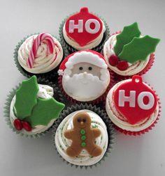 ho ho ho Christmas cupcakes