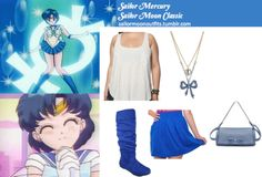Like Sailor Moon Outfits on Facebook! *Plus Size Edition* Requested by Anonymous May May bow-accent perforated shoulder bag in Blue Forever 21 patch pocket tank top in Oatmeal Gojane cuffed faux suede slouch boot in Royalor these boots or these boots or these boots American Apparel jersey pocket shirt in Royal Blue Betsey Johnson blue bow double row necklace Sailor Moon Outfit, Anime Inspired Outfits, Blue Bow, Anonymous, American Apparel, Betsey Johnson, Mercury, Royal Blue, Oatmeal