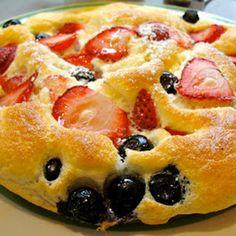 Berry good fluffy soft souffle pancakes.