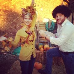 Pin for Later: 40 Hilarious Costumes For the Funniest Couples Bob Ross and a Painting of a Tree
