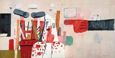 philip guston   a day's work, 1970  oil on canvas  198 X 279  Saatchi gallery