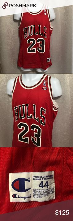 1990 s Vintage champion NBA Chicago Bulls Jersey 1990 s Vintage champion  NBA Chicago Bulls Michael Jordan   d9adc24f3
