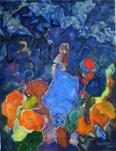 A Russian Fairy Tale.  Oil on canvas, 40x30 cm.