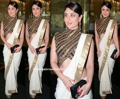 Kareena Kapoor In Anand Kabra At A Luncheon Held In Honor Of Valérie Trierweiler