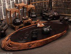 Antique ebony tea tray tea set solid wood large tea table 29.5''13.4'' good gift #ArtsCraftsMissionStyle