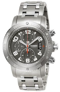 c0357dc31eb HERMES CHRONOGRAPH GRAY DIAL STAINLESS   TITANIUM MEN WATCH CP2.941.230.4963